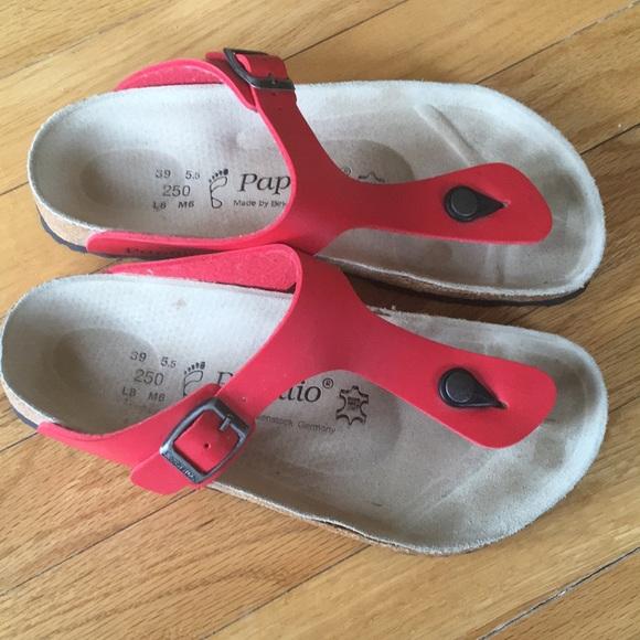 Birkenstock Shoes   Gizeh 39 Papillio Sandals Cream   Poshmark